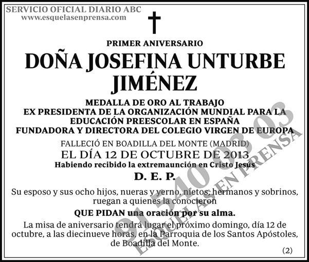 Josefina Unturbe Jiménez